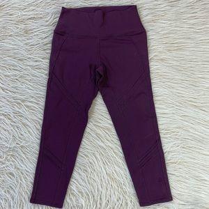 Alo Yoga Cropped leggings purple mesh workout